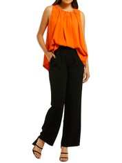 Country-Road-Gathered-Neck-Shell-Blouse-Orange-Front