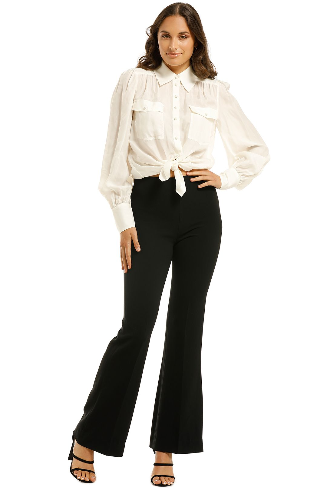 Country-Road-High-Waist-Flare-Pant-Black-Front