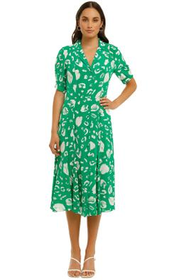 Country-Road-Print-Collared-Shirt-Dress-Vivid-Green-Front