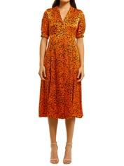 Country-Road-Print-Shirt-Dress-Orange-Front