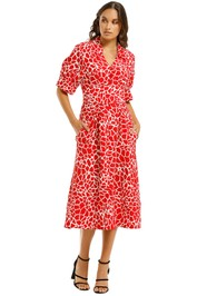 Country-Road-Printed-Contrast-Stitch-Dress-Scarlet-Front