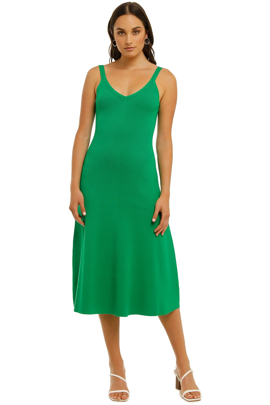 Country-Road-Rib-Slip-Knit-Dress-Vivid-Green-Front
