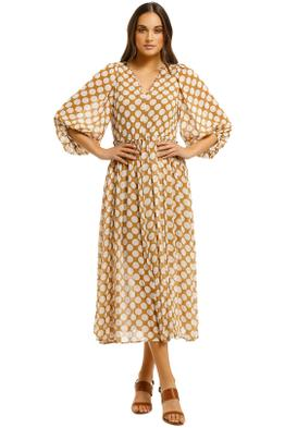 Country-Road-Spot-Print-Dress-Biscuit-Front