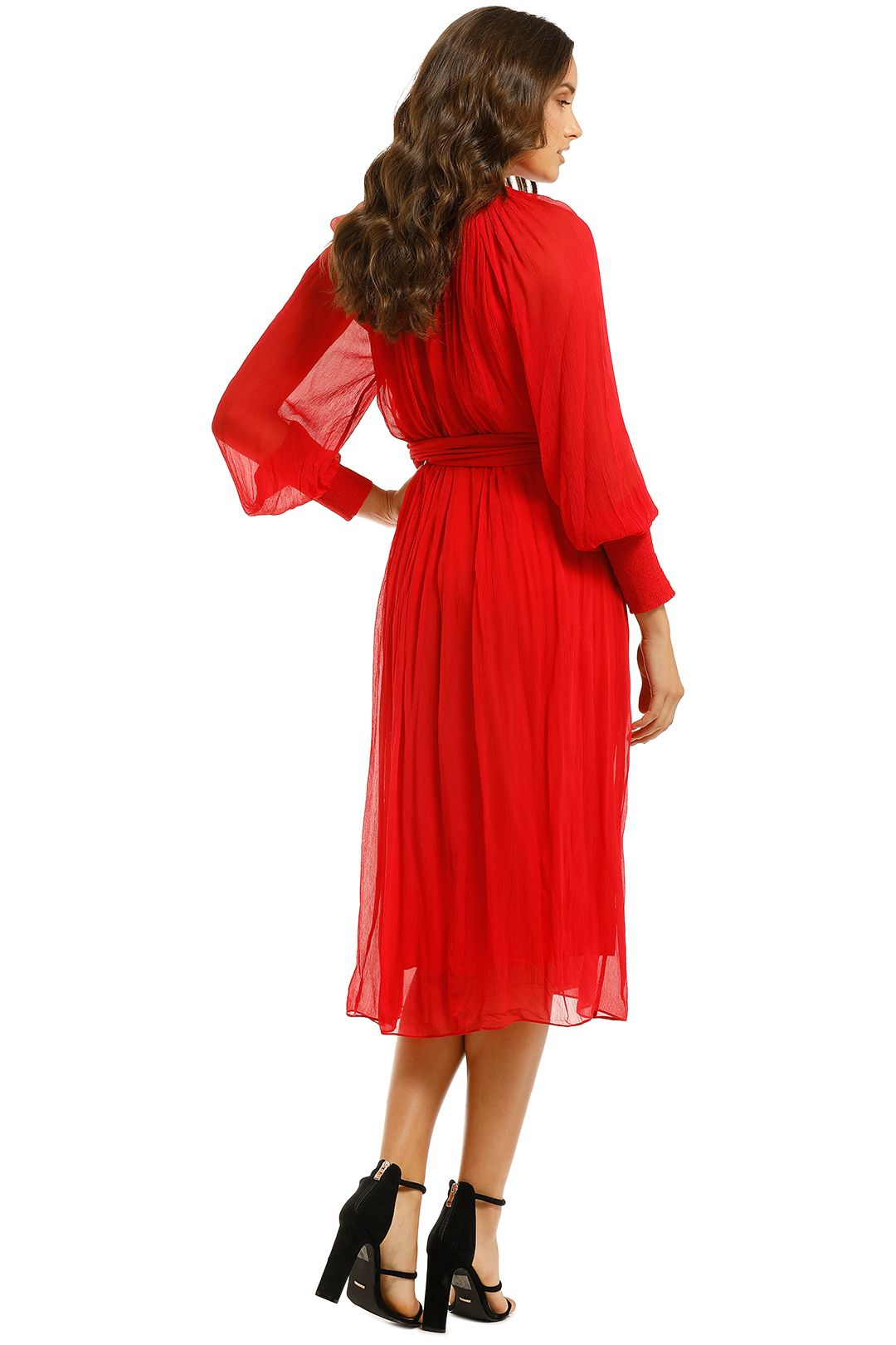Country-Road-Vist-Knot-Dress-Red-Back