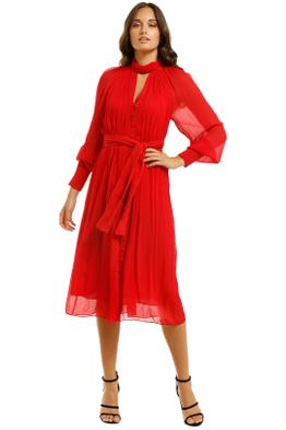 Country-Road-Vist-Knot-Dress-Red-Front