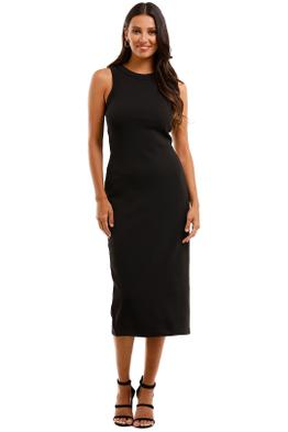 Country Road Fitted Jersey Dress Black Fitted