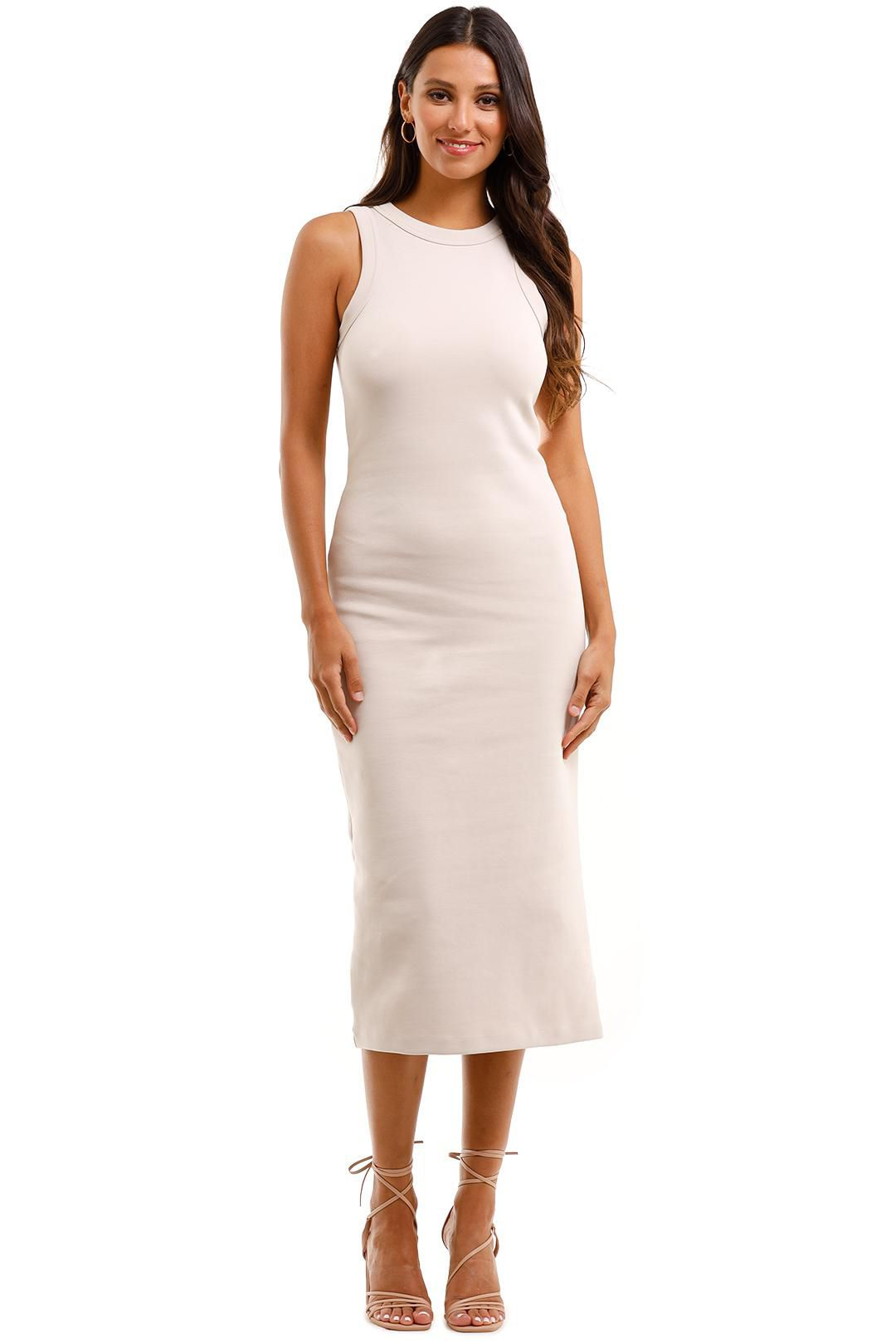 Country Road Fitted Jersey Dress Cloud Fitted