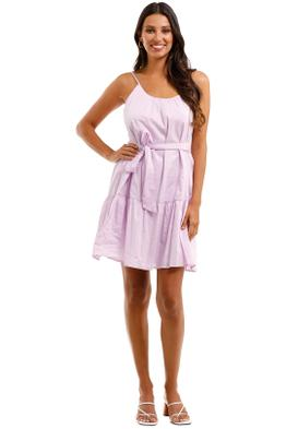Country Road Gathered Mini Dress Mauve