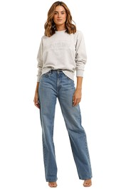 Country Road Heritage Sweat Grey Marle embroidered