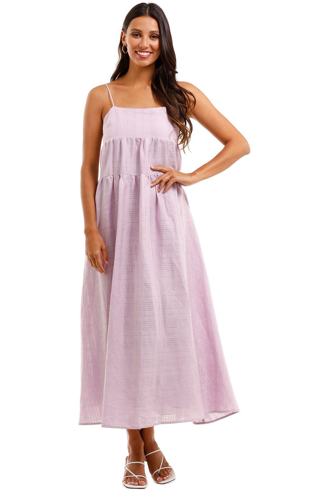 Country Road Textured Slip Dress Purple