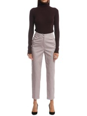 CUE - Abstract Tile Print Pant - Beige - Front