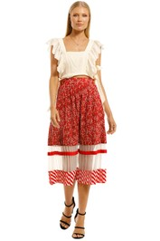 Curate-by-Trelise-Cooper-Hot Pleat-Skirt-Red-Front
