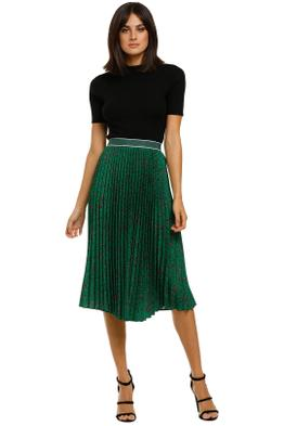 Curate-by-Trelise-Cooper-Side-Pleat-Skirt-Green-Front