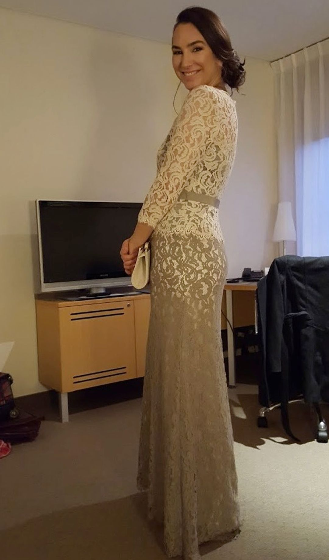 Tadashi Shoji - Lace Boatneck Gown - Customer - 001