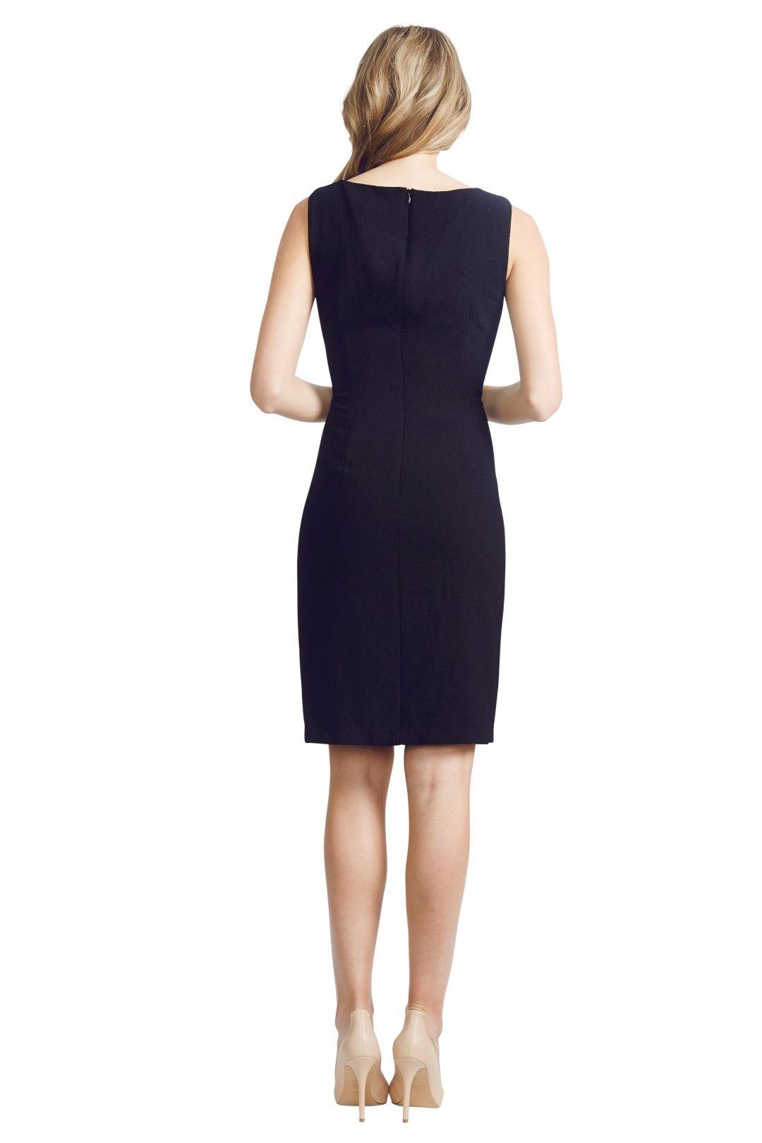 David  Meister  - Lace Panel Dress - Black - Back