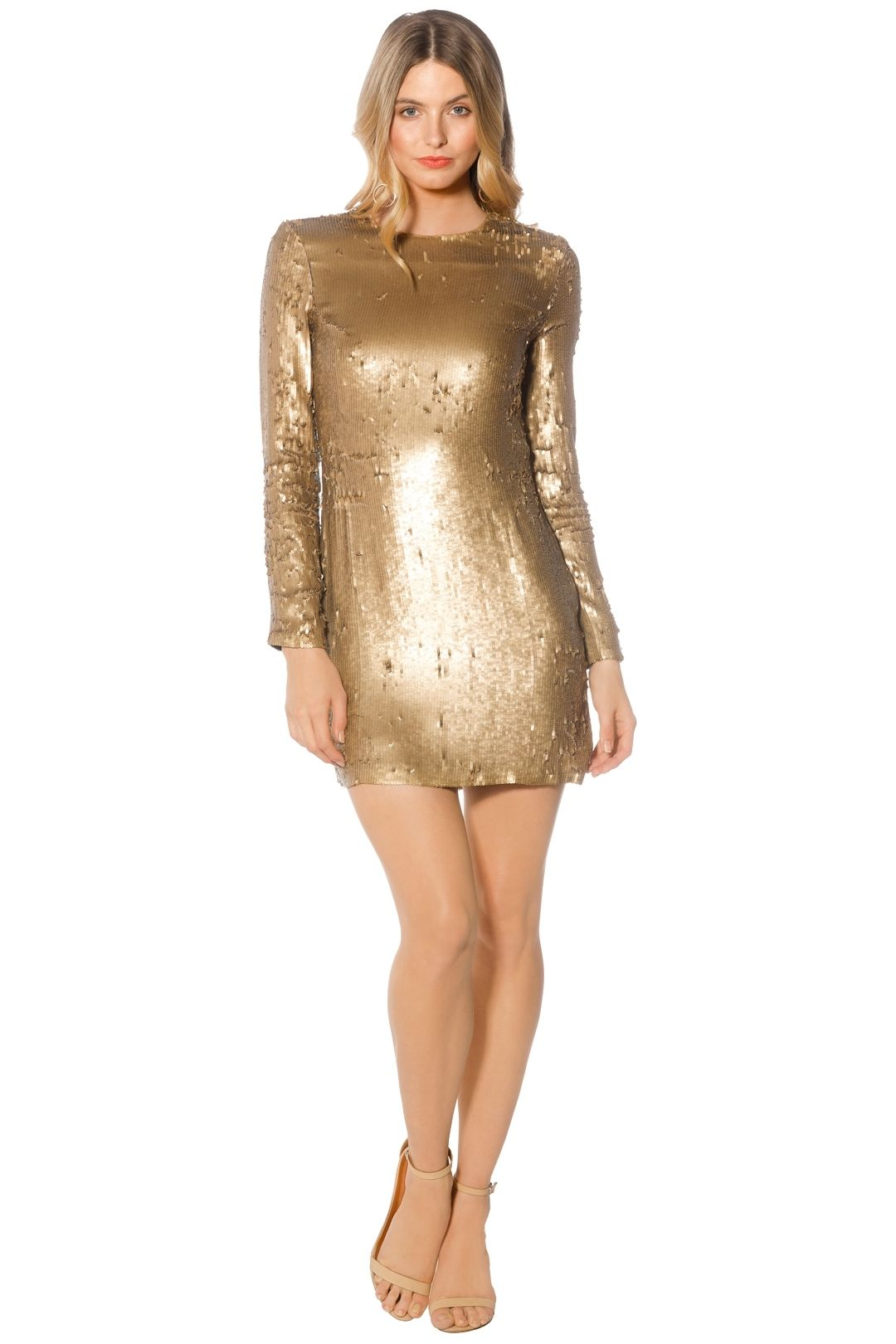 Diane Von Furstenberg - Pauletta Sequin Dress - Gold - Front