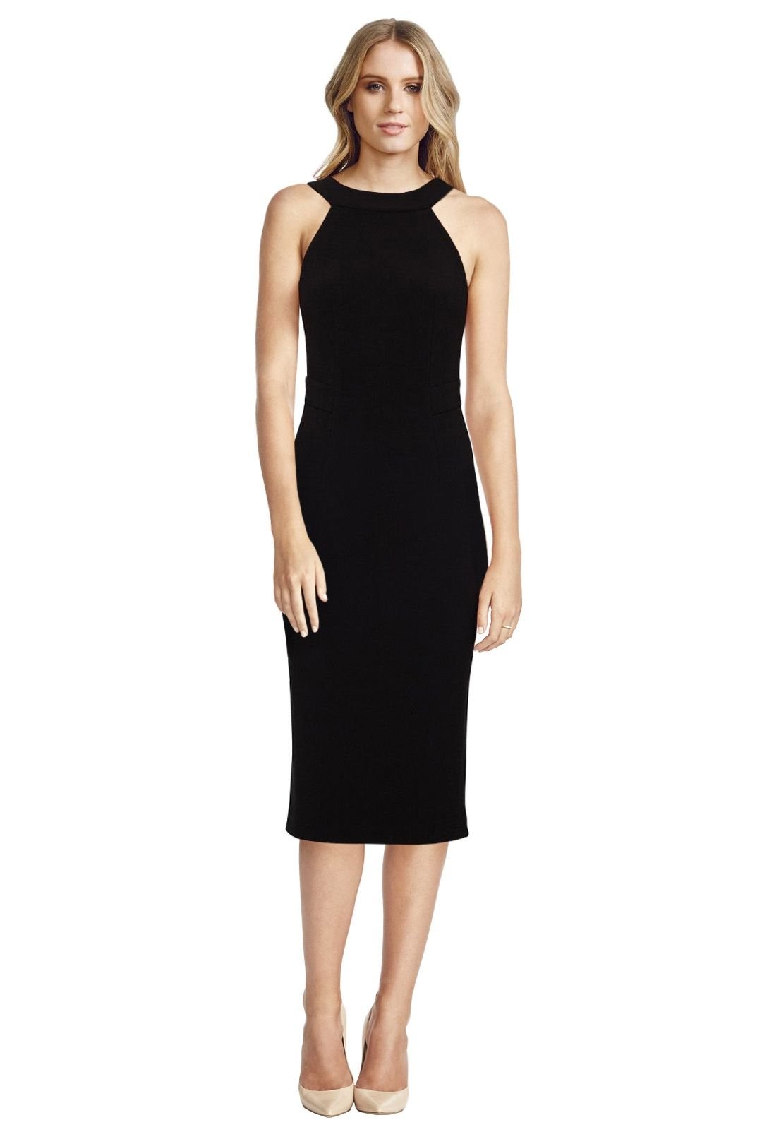 Dion Lee Line II - Backless Dress - Black - Front