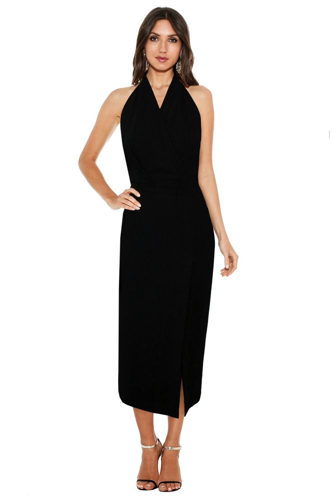 Dion Lee Line II - Soft Lace Dress in Black - Black - Front