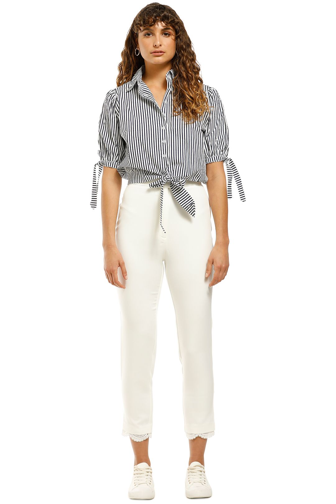 Doris-Wrap-Shirt-Navy-Stripe-Front