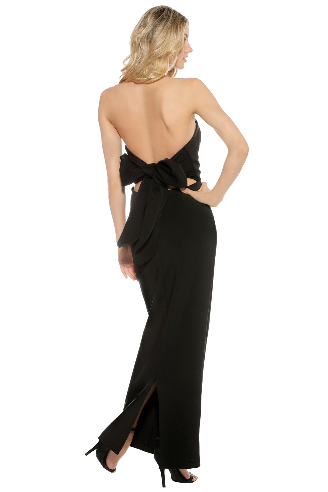 Eileen Kirby - Sweetheart Gown - Black - Back