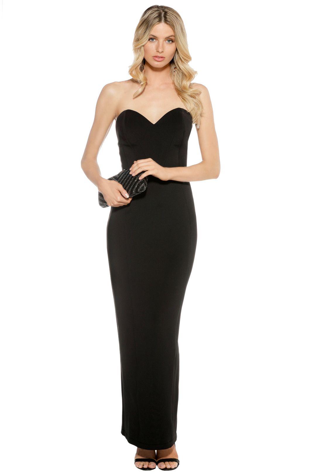 Eileen Kirby - Sweetheart Gown - Black - Front