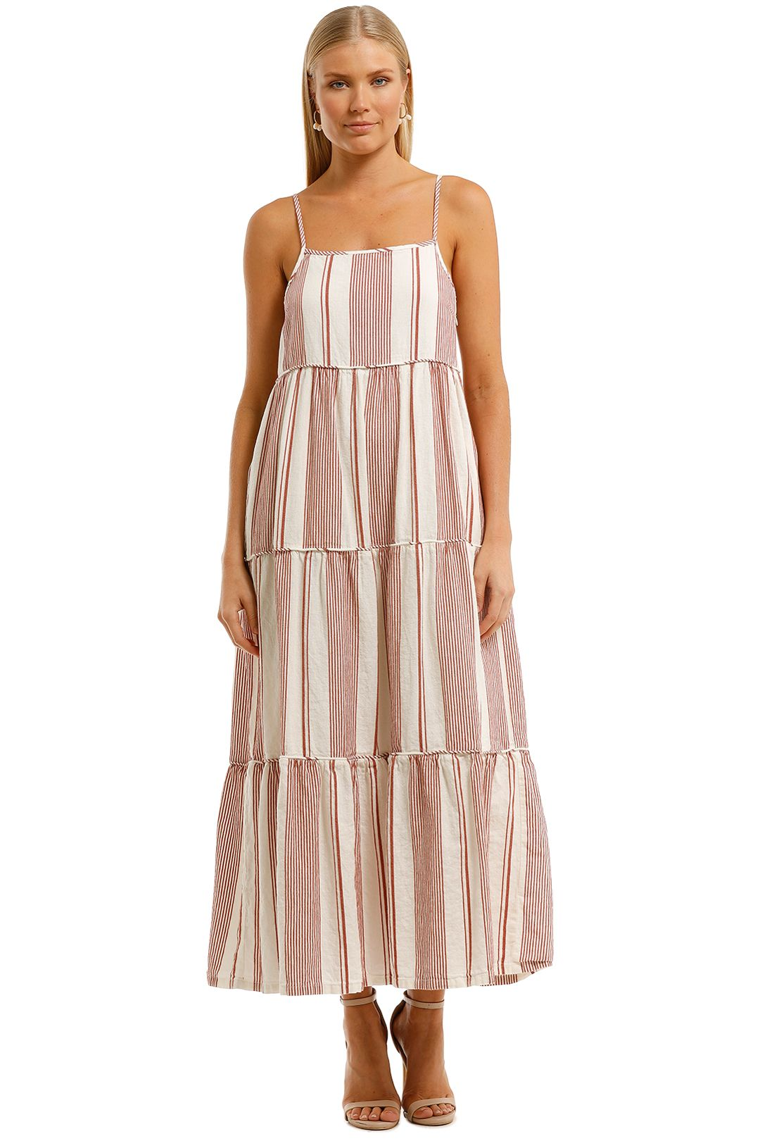 Elka-Collective-Adele-Maxi-Dress-Brown-Front