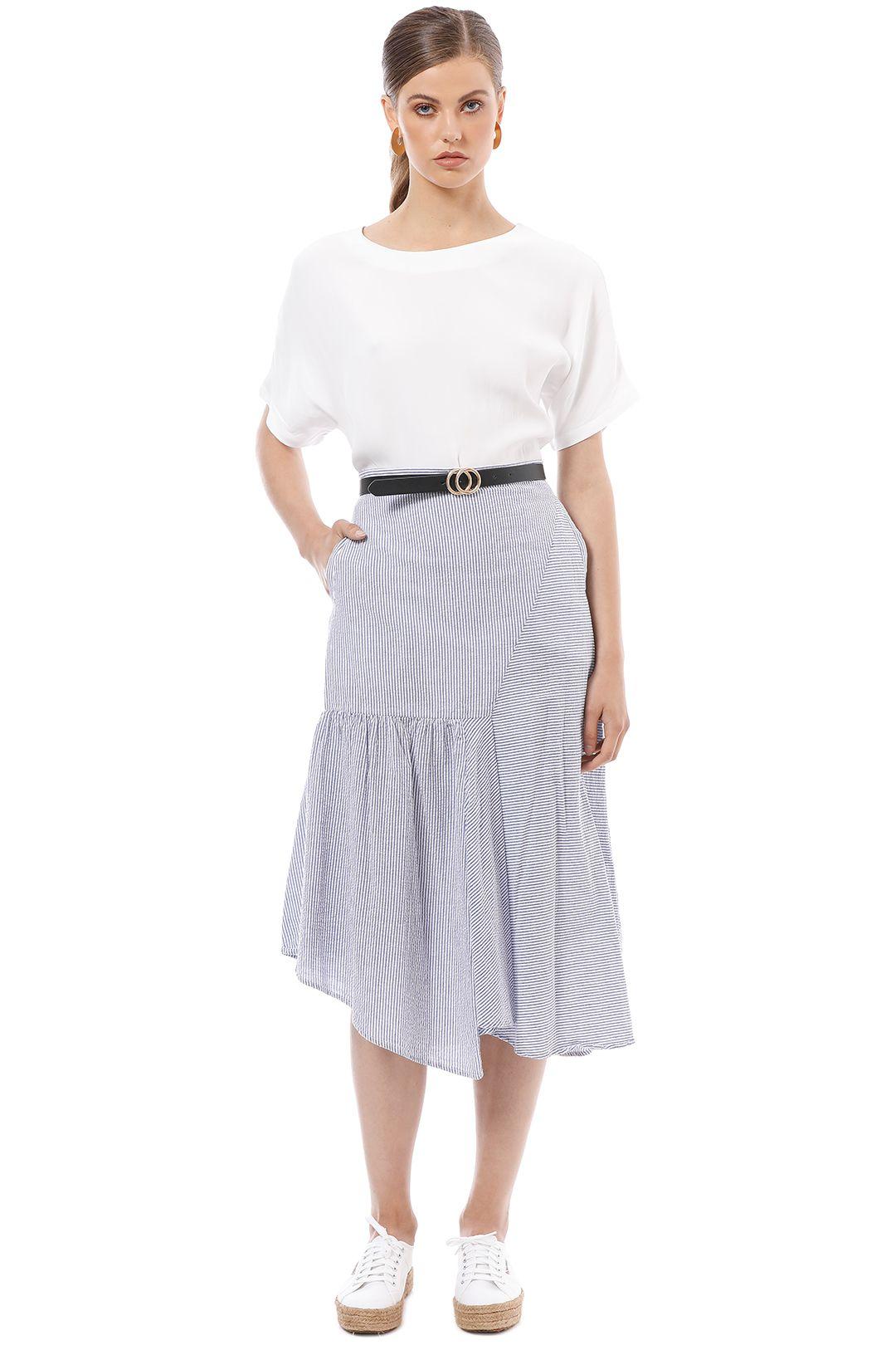 Elka Collective - Deanna Skirt - Blue - Front