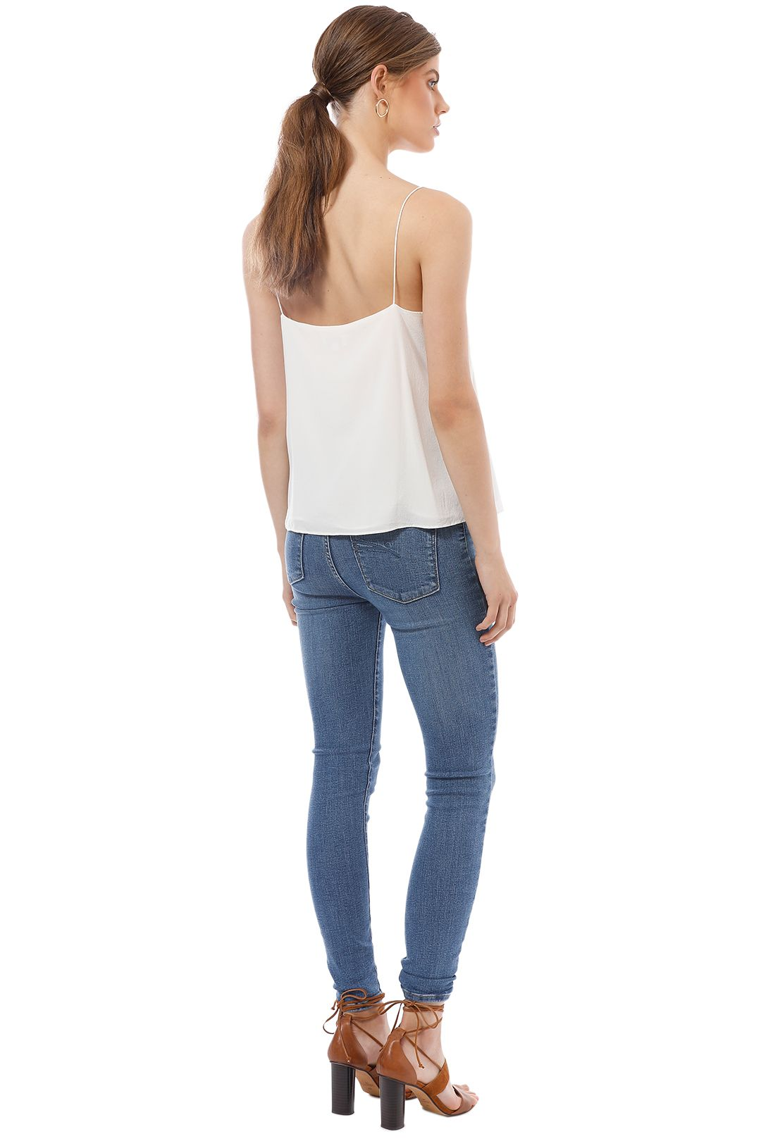 Elka Collective - Lucca Cami - White - Back