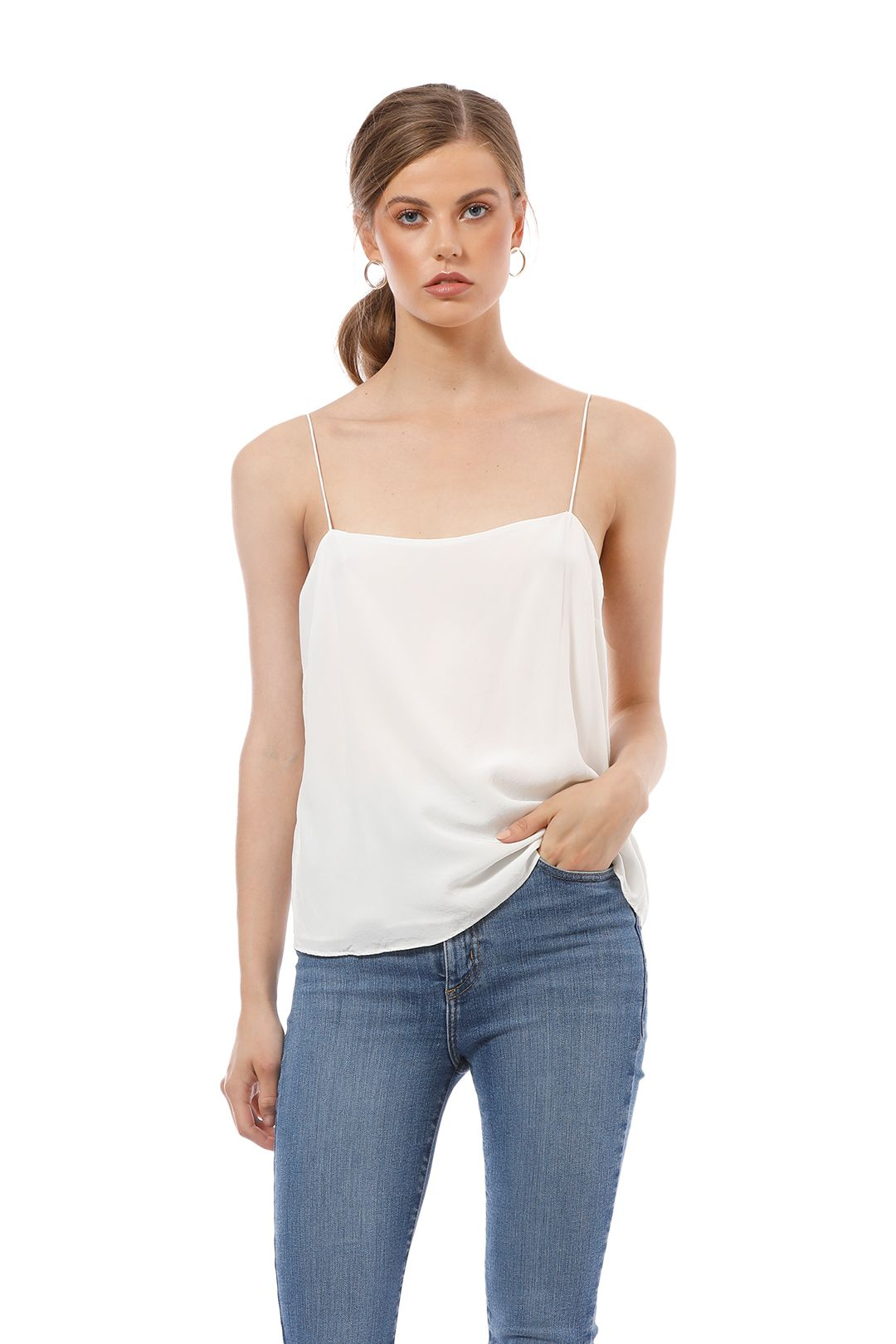 Elka Collective - Lucca Cami - White - Front Close