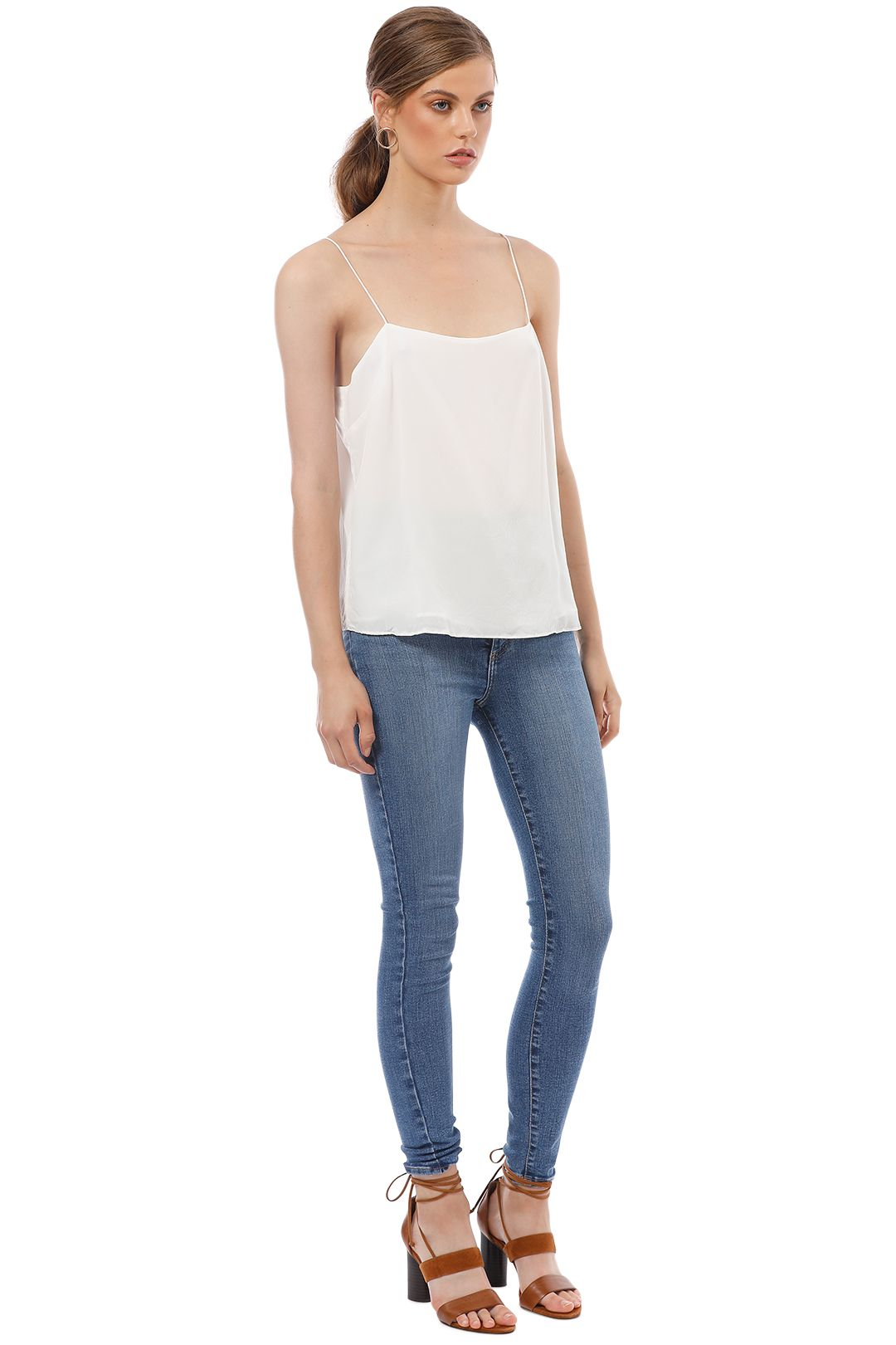 Elka Collective - Lucca Cami - White - Side