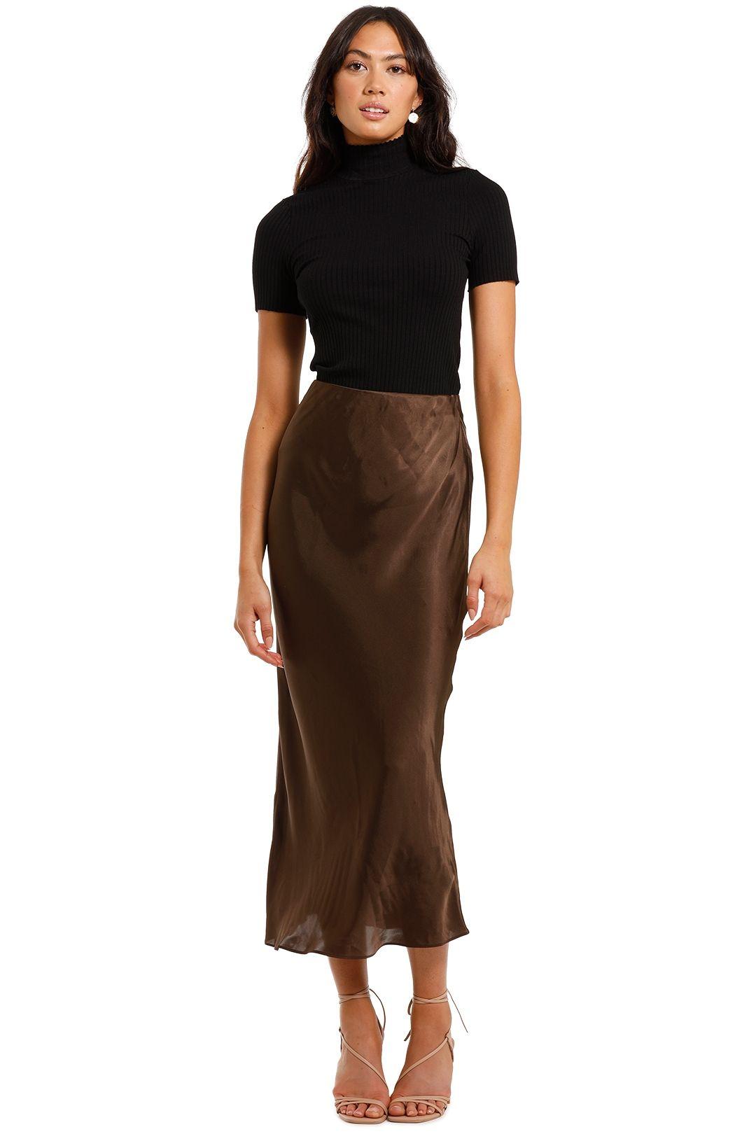 Elka Collective Versailles Skirt Brown
