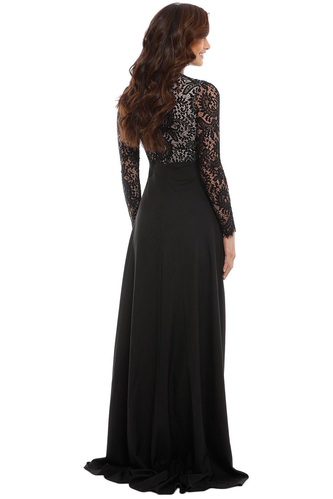 Elle Zeitoune - Alexandria Black Gown - Black - Back