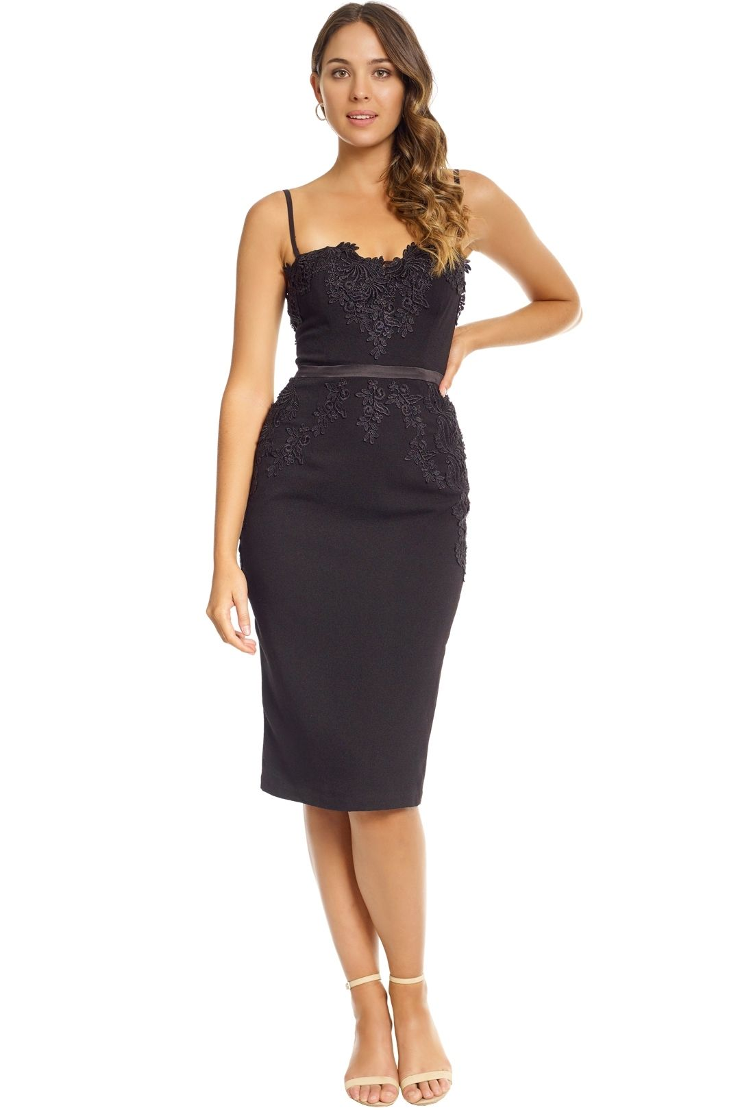Elle Zeitoune - Black Madeline Dress - Black - Front