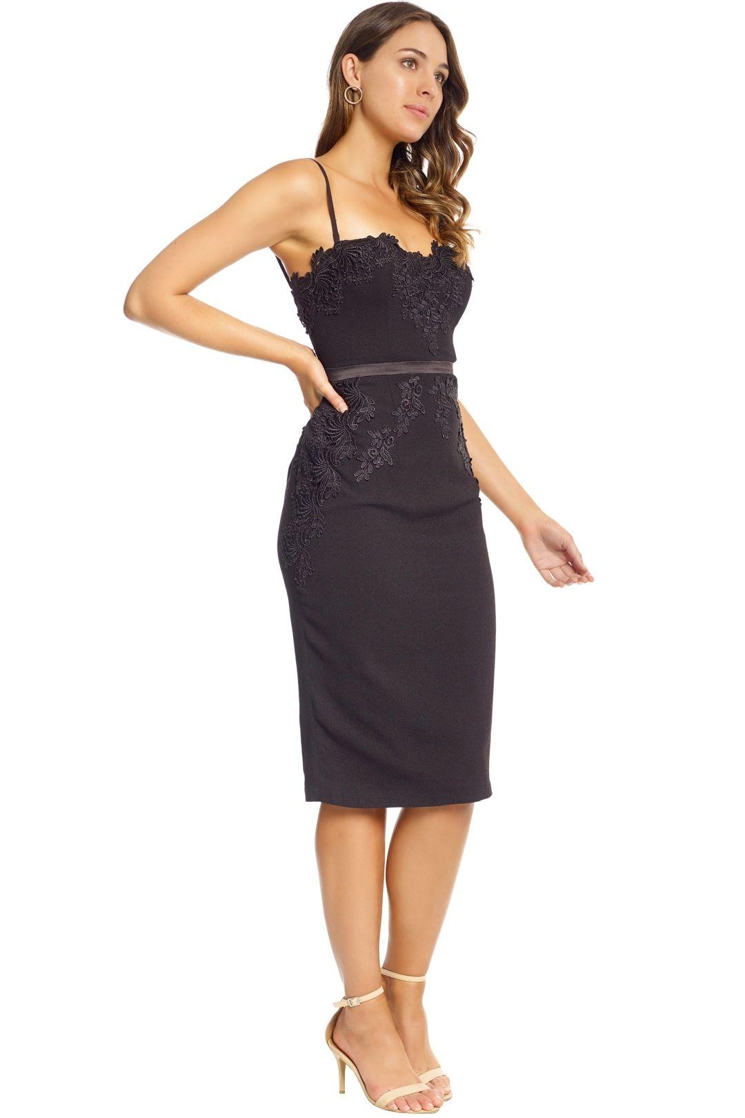 Elle Zeitoune - Black Madeline Dress - Black - Side