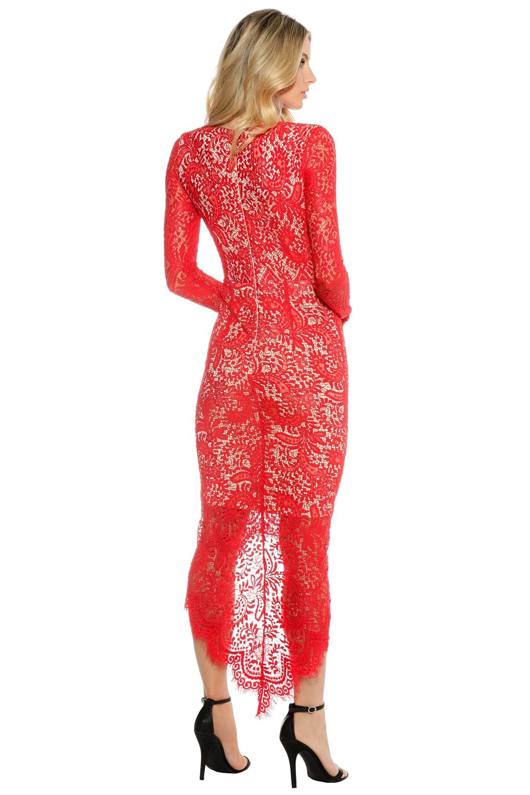 Elle Zeitoune - Cameron Dress - Red - Back