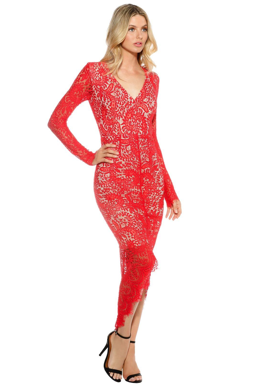Elle Zeitoune - Cameron Dress - Red - side