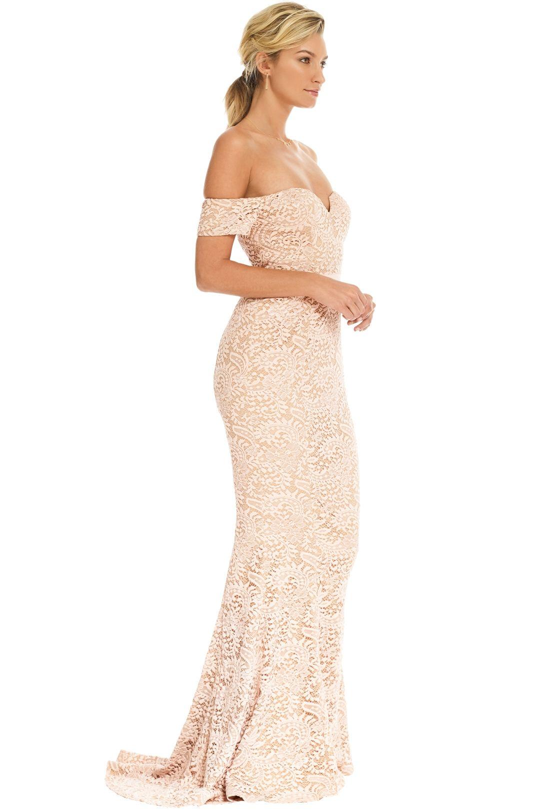 Elle Zeitoune - Carina Dress - Blush Nude - Side
