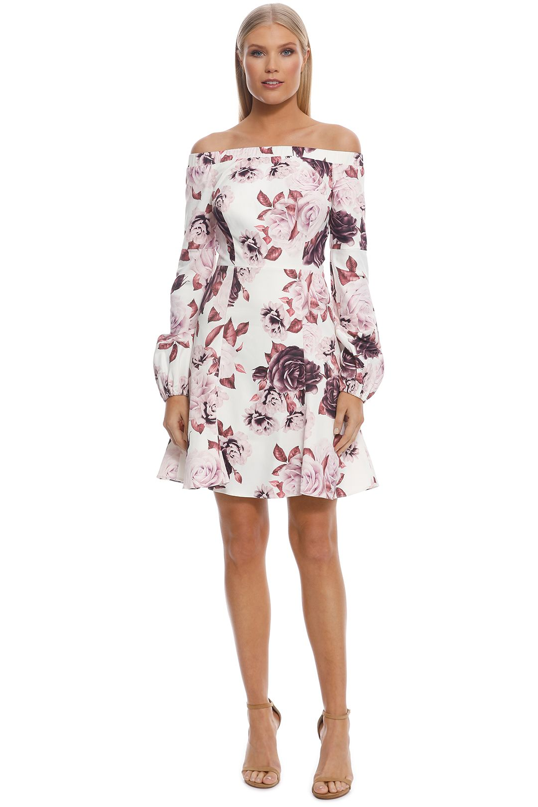 Elle Zeitoune - Deanne Dress - White Floral - Front