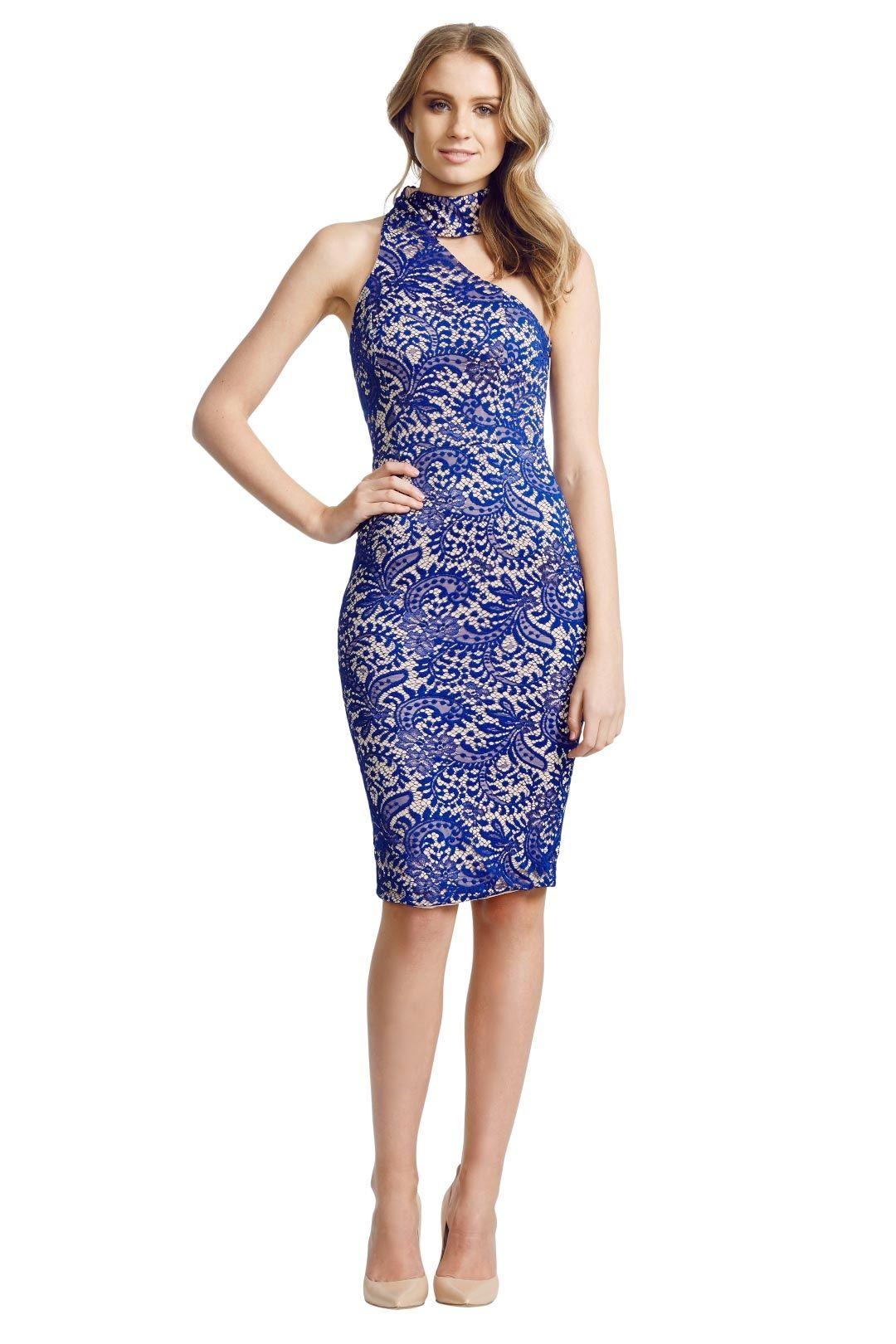 Elle Zeitoune - Harper Lace Dress - Blue - Front