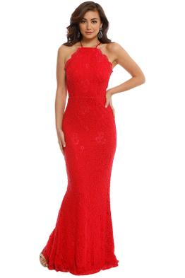 Elle Zeitoune - Lori Red Gown - Red - Front