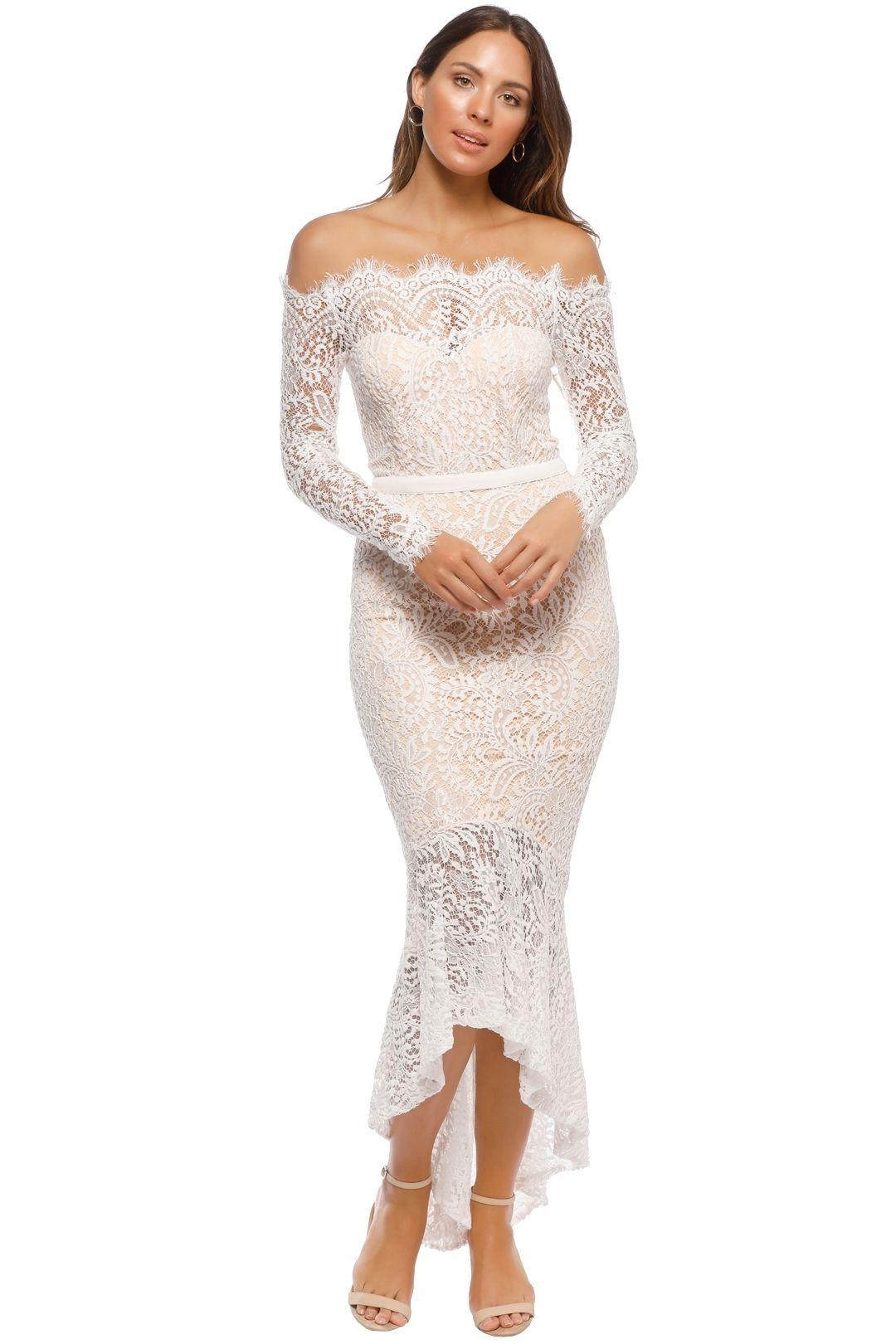 Elle Zeitoune - Marchesa Gown - White - Front
