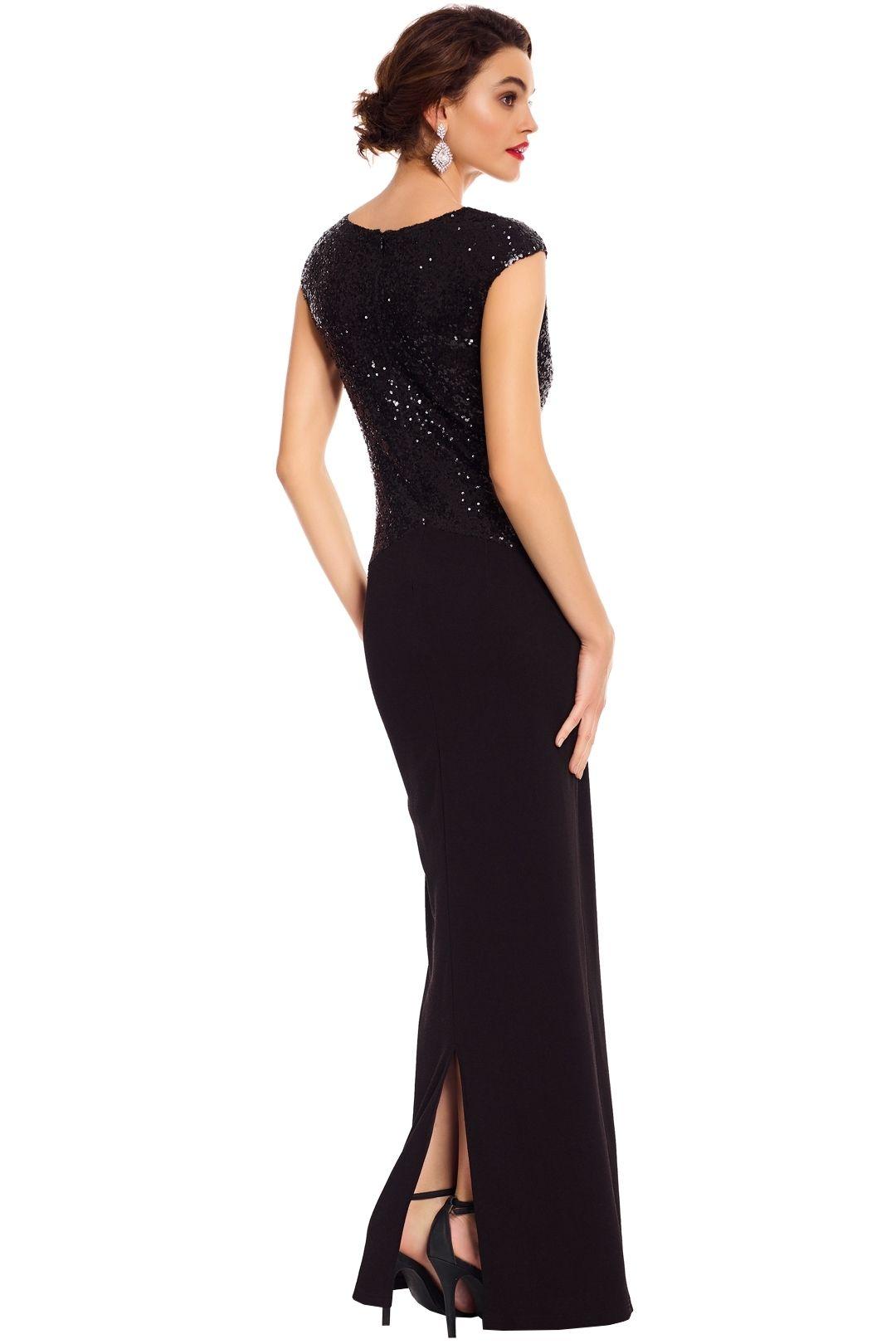 Elle Zeitoune - Ruby Black Gown - Black - Back