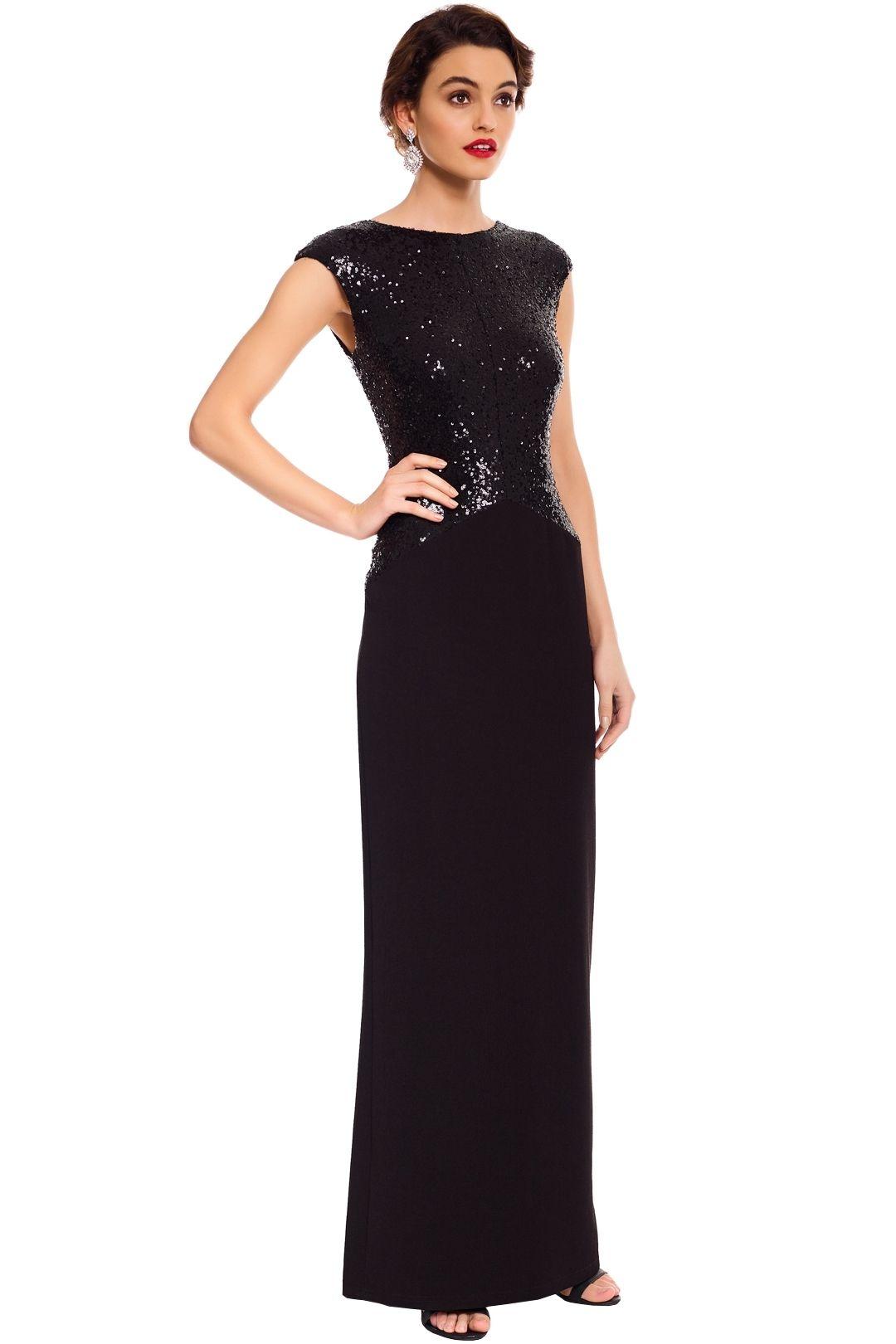 Elle Zeitoune - Ruby Black Gown - Black - Side