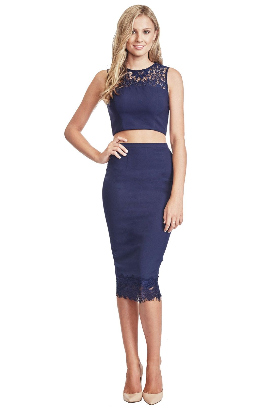 Elle Zeitoune - Sheratron Dress - Navy - Front
