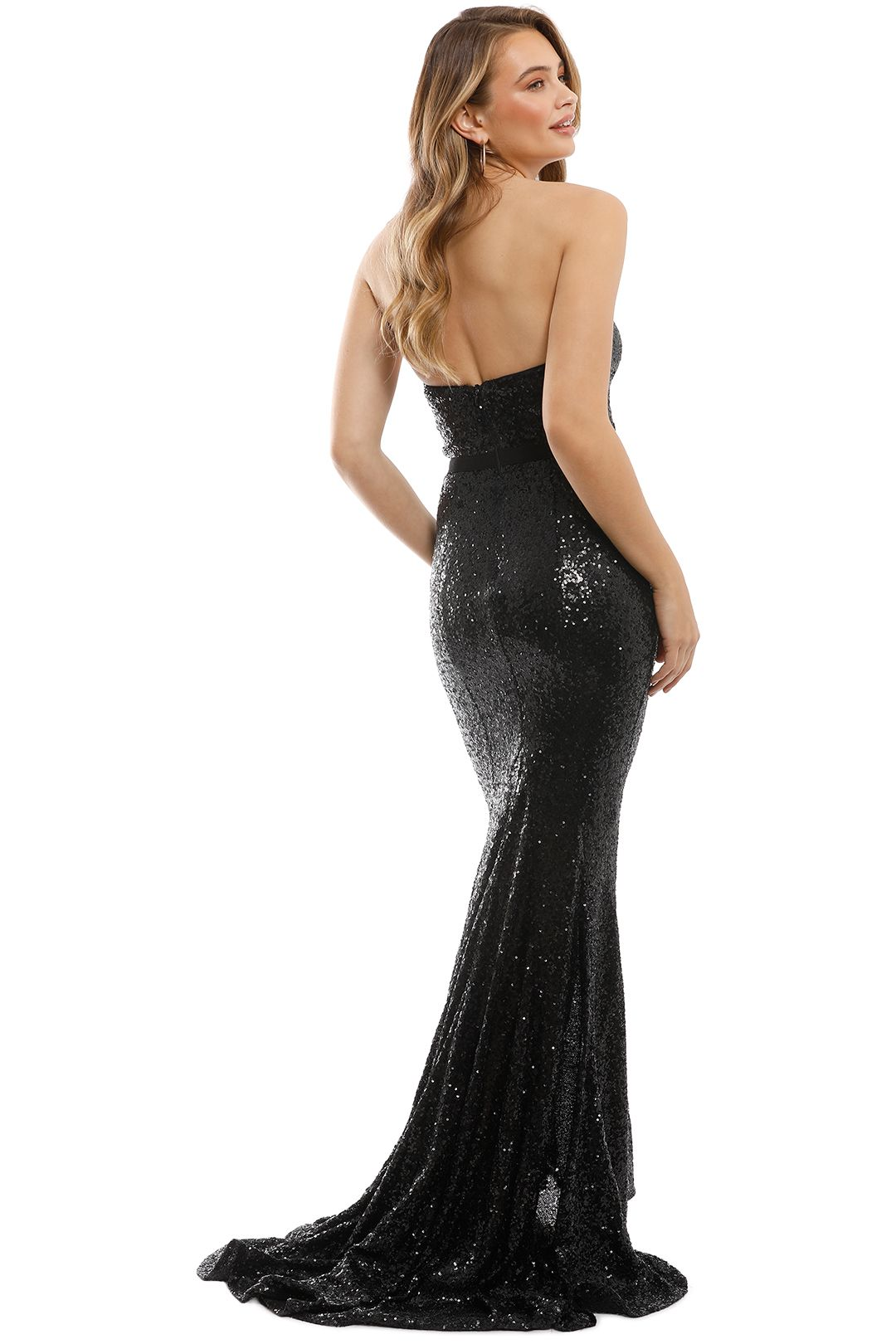 Elle Zeitoune - Cheyna Black Gown - Back