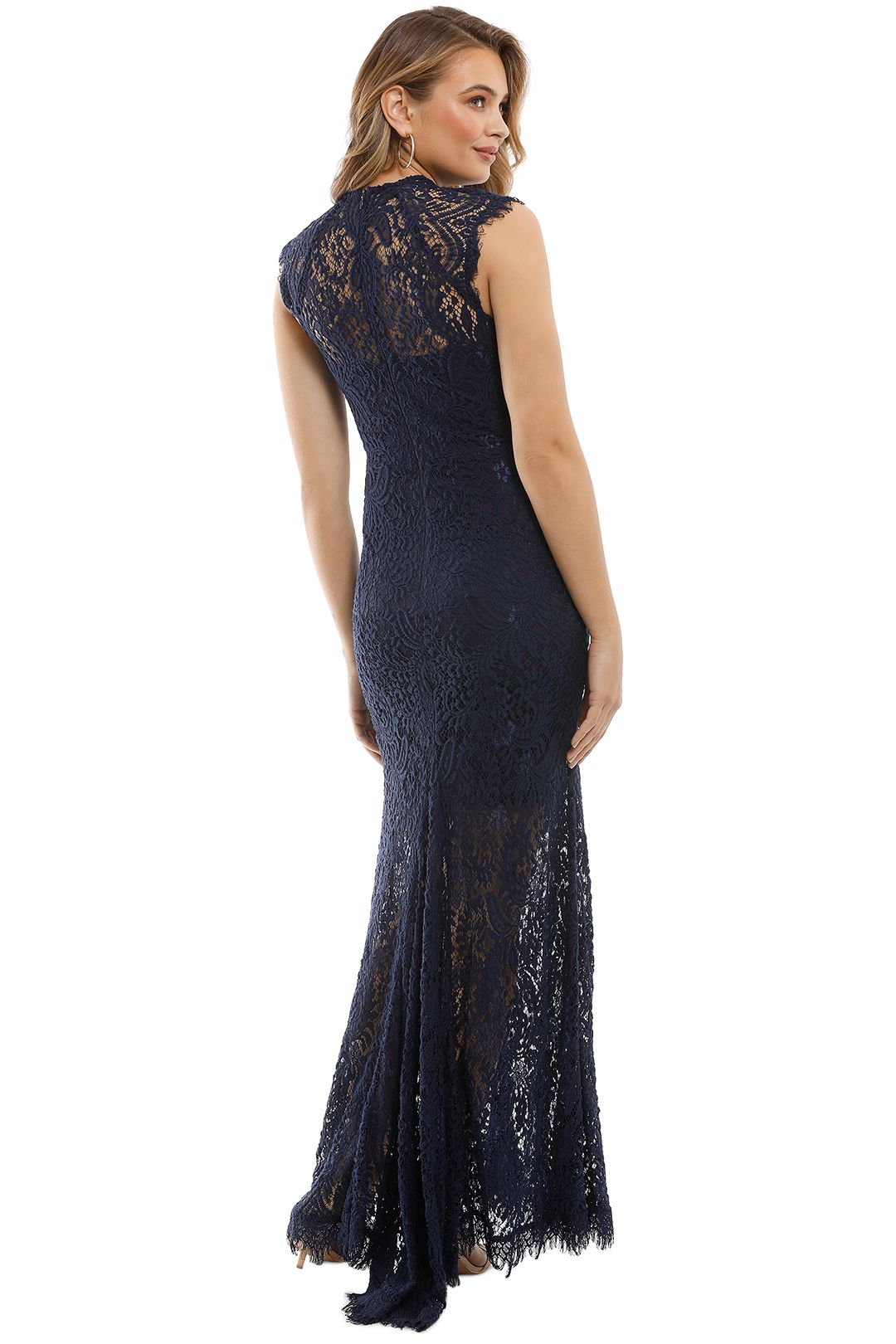 Elle Zeitoune - Demi Gown - Navy - Back