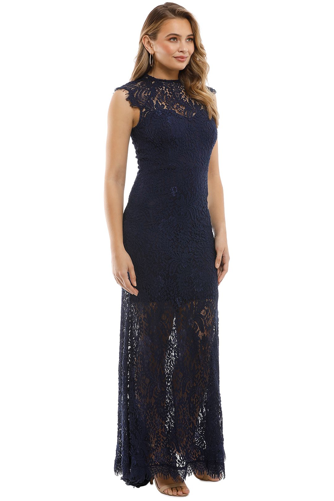 Elle Zeitoune - Demi Gown - Navy - Side