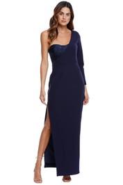 Elle Zeitoune High Split Asymmetrical Dress