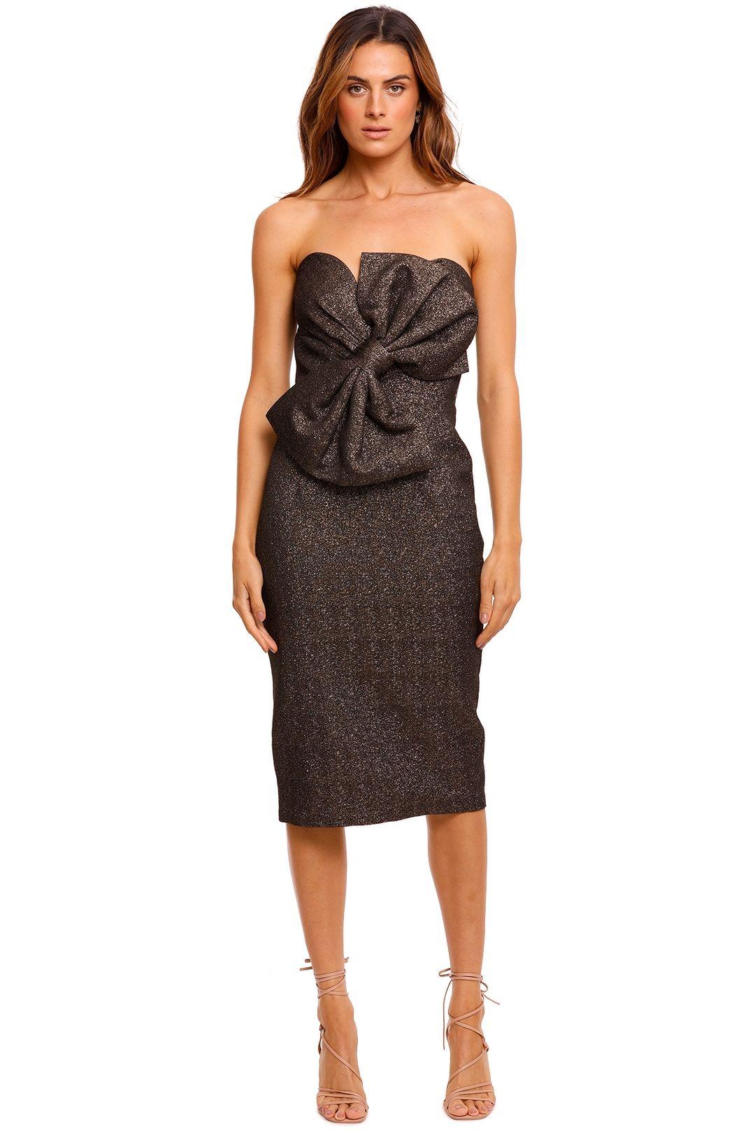 Elle Zeitoune Stella Strapless Midi Dress