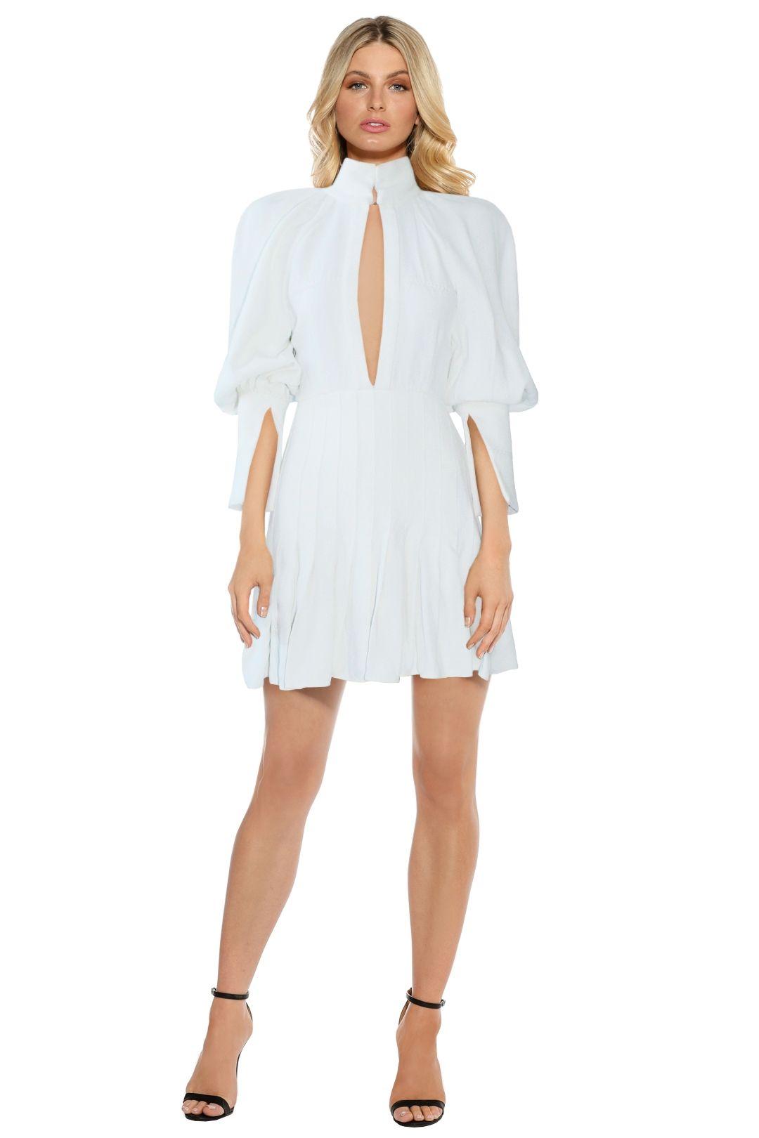Ellery - Butler Voluminous Sleeve Dress - White - Front